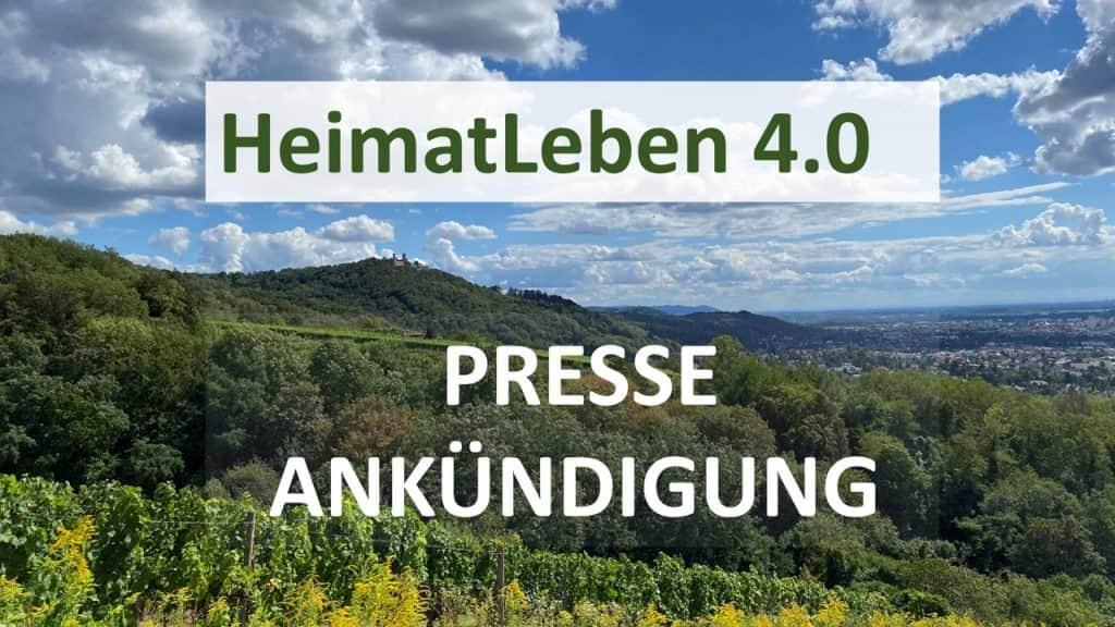 """Ankündigung und Pressegespräch """"HeimatLeben 4.0 Bergstraße-Odenwald"""""""